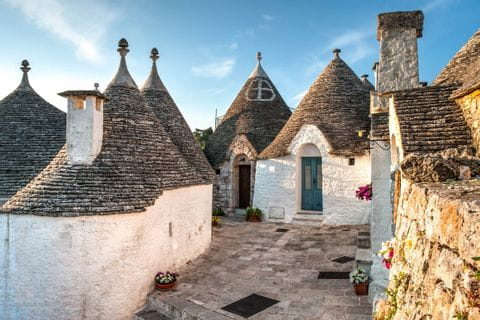 Apulien weiße Häuser