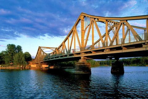 Glienicker bridge between Berlin and Potsdam