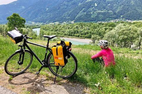 Verena looks over the Mölltal valley