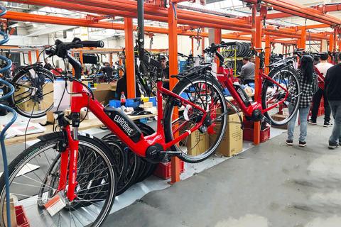 Produktion der Eurobike E-Biks bei KTM