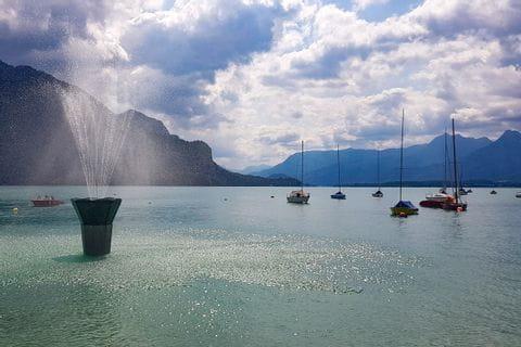 Wasserspiele in St. Gilgen