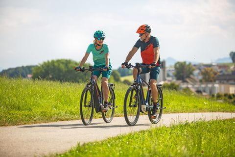 Cyclists in the Salzburg region