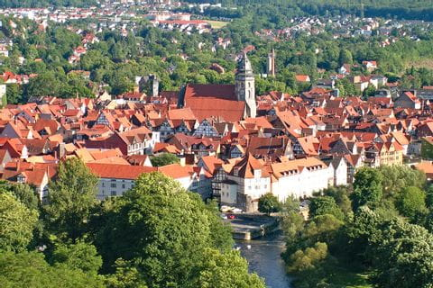 Blick von oben auf Hann Münden