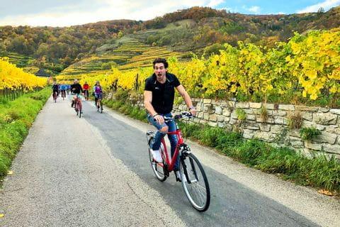 Johannes beim Radfahren