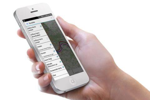 Eurobike App in der Hand