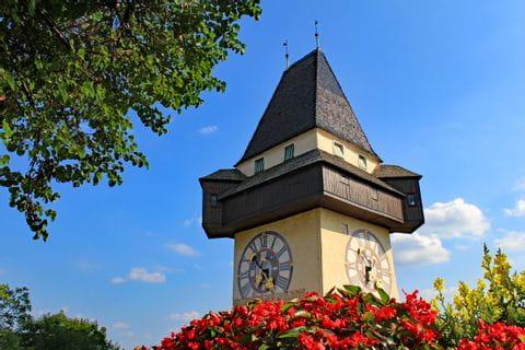 "The clocktower ""Uhrturm"" of Graz"