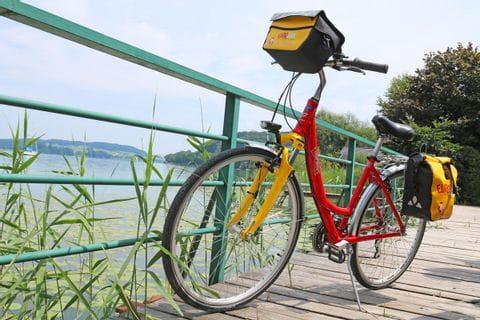 Eurobike Fahrrad in Froschperspektive