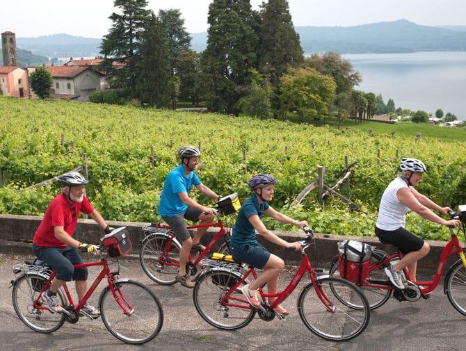 Radfahrer im Piemont