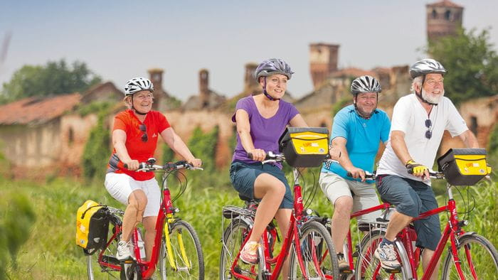 Radfahrer in der Gruppe