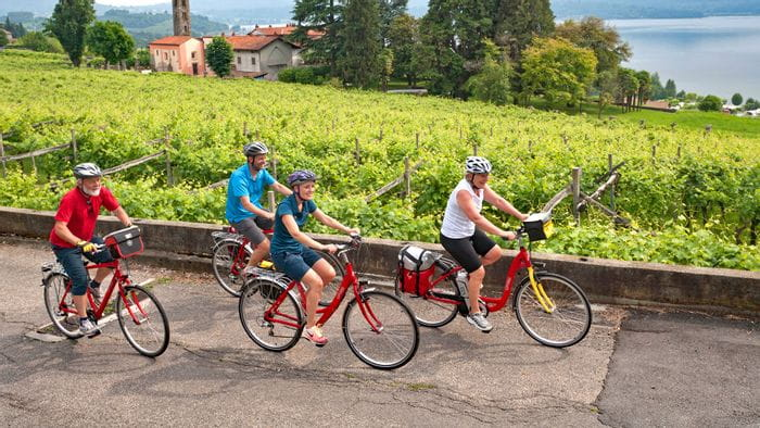 piemont-radfahrer-italien